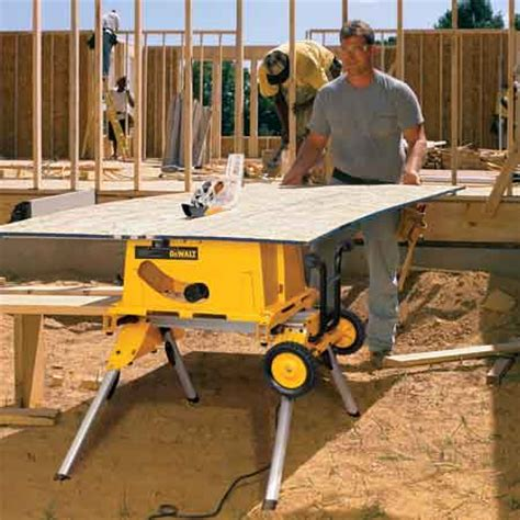 site saw bench dewalt dw744xrs 10 inch job site table saw with rolling