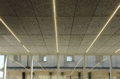 ceilings and lighting for painting exhibition hall interior fondazione prada cus milan oma architecture lab