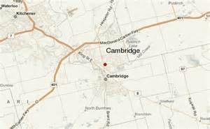 cambridge canada map cambridge canada location guide