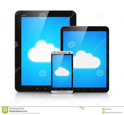 mobile devices cloud computing on mobile devices royalty free stock
