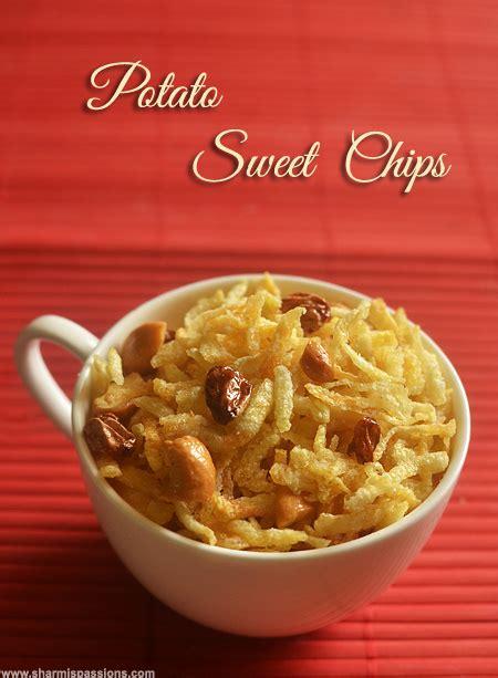 potato sweet mixture easy snacks recipes sharmis passions
