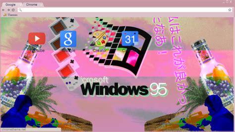 google theme vaporwave vaporwave chrome theme themebeta