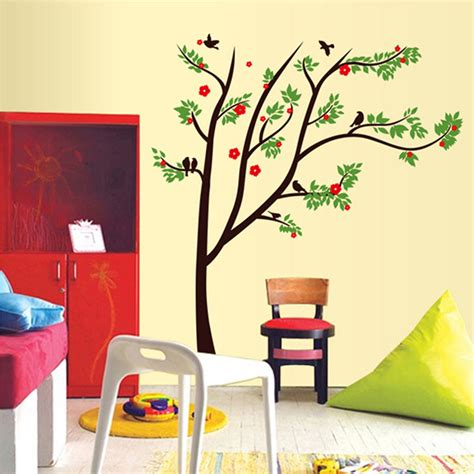 colorful wall stickers colorful 3d diy tree pvc wall decals adhesive family wall stickers mural home decor poster