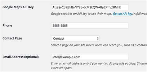section 8 contact information نحوه اضافه کردن آدرس کسب وکار در وردپرس باشگاه وردپرس