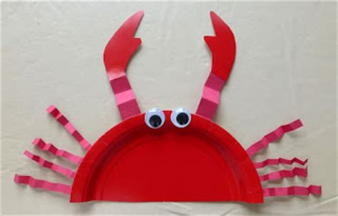 Paper Plate Crab Craft - crafts