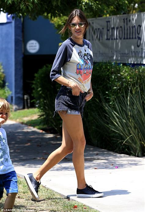 The Alessandra Ambrosio Weekend by Alessandra Ambrosio Sports Ac Dc And Denim Shorts In