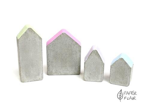 Beton Häuser by Beton Deko H 228 User 4er Set Pastell Handmade Paperflair De