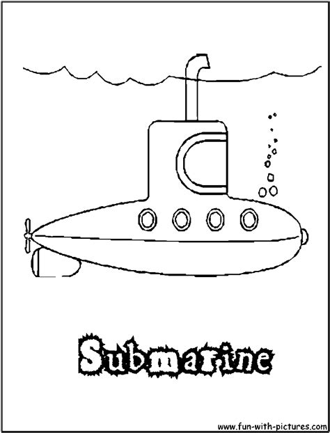 submarine coloring page
