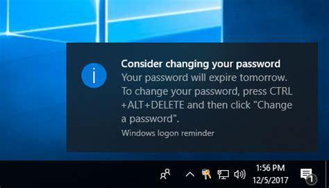 windows reset expired password how to prompt user to change windows password before