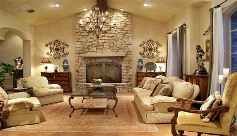 tuscan living custom family room and great room ideas dearth design