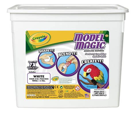 crayola model magic white modeling compound tools 2 lb resealable