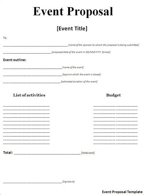 event templates for word best photos of blank business proposal letter format
