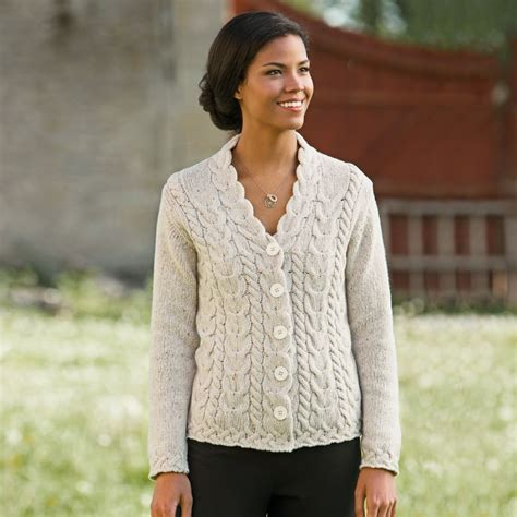 how to knit aran sweater aran wool sweater womens cardigan with buttons
