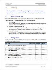 testing policy template business continuity plan 48 pg ms word 12