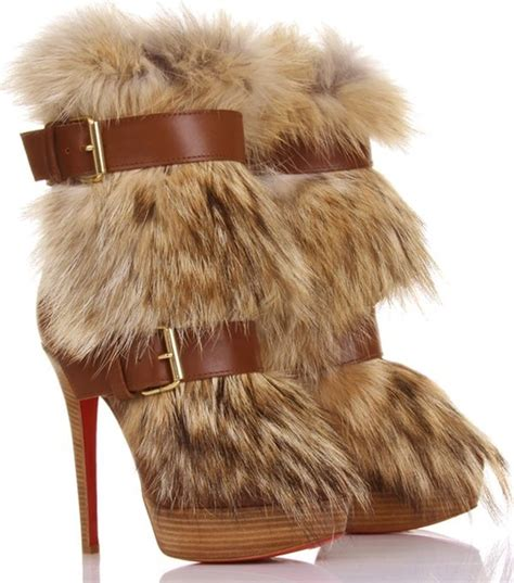 boots with the fur for ciara in christian louboutin toundra fur boots upscalehype