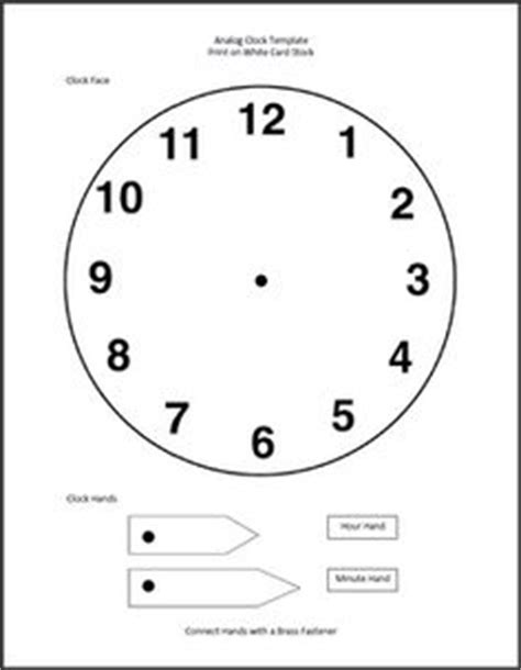 make a clock template school age on cing theme water and