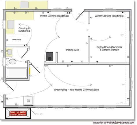 green house floor plans plan for our passive solar greenhouse byexle com