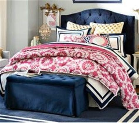 Pink And Navy Bedding by Preppy Pink Gold And Navy Bedding D E C O B E D R O O M