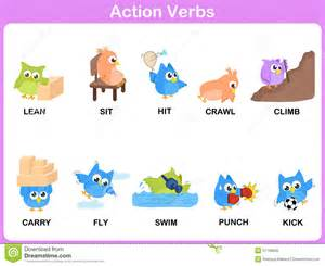 verbs picture dictionary activity for stock