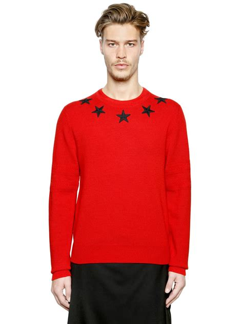 Sweater Givenchy Givenchy Patch Wool Sweater In For Lyst