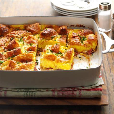 ham swiss egg casserole recipe taste of home