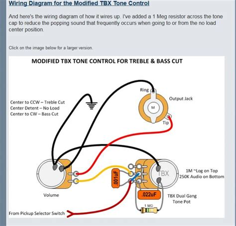 fender tbx tone wiring diagram circuit and