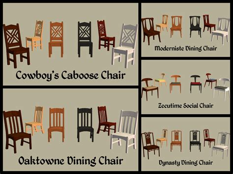 Chair Names by Mod The Sims Base Dining Chairs Part 2