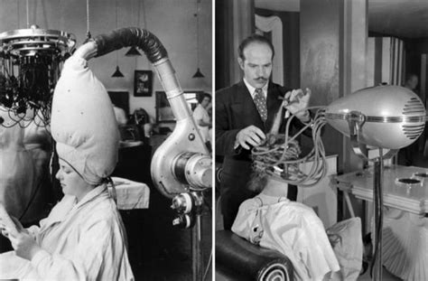 old fashinoned hairdressers and there salon potos vintage salon hairdryers neatorama