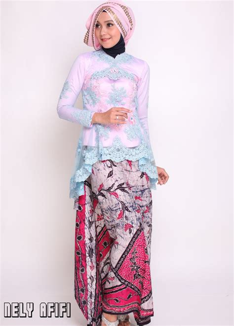 Baju Batik Modern Kebaya Muslim Dress Kemeja Pria Barata Cp http nelyafifi jahit kebaya modern batik tile pink