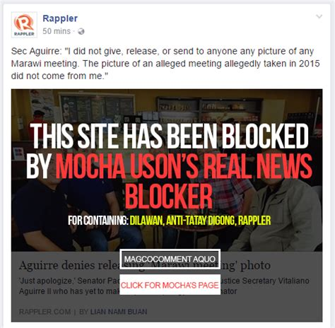 Blockers Philippines Mocha Uson Releases Real News Blocker In Response To Fakeblok The Garlic