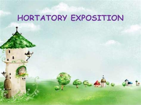 hortatory exposition text pengertian contoh dan generic