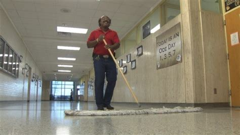 meet  singing high school janitor  brings    hallways  edition