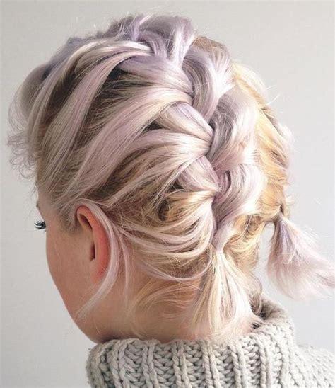 peinados para pelo corto con trenzas peinados con trenzas para pelo corto trenza para pelo