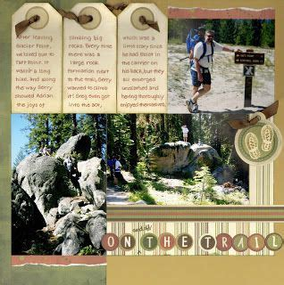 scrapbook layout waterfalls 13 best images about scrapbooking on pinterest
