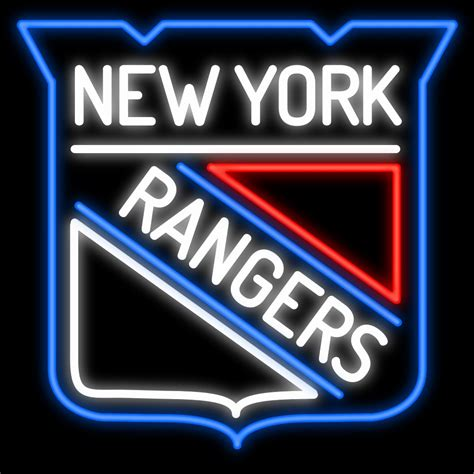 neon light signs nyc new york rangers neon sign sports signs