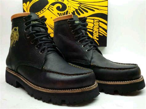 Sepatu Boots Warna Hitam jual sepatu boot pria pichboy brodo warna hitam altaf shop