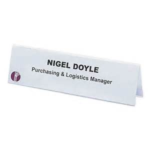 paper nameplate template name cards badges