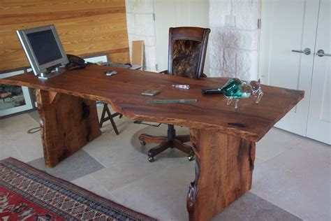 Mesquite Desk by Edge Mesquite Desk By Dusty123 Lumberjocks
