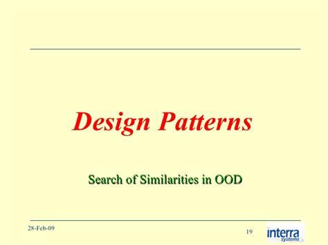 software design pattern names design patterns