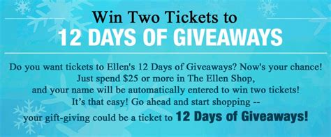 Ellen Degeneres Contests 12 Days Of Giveaways - 17 best images about giveaways on pinterest free diapers 12 days and better homes