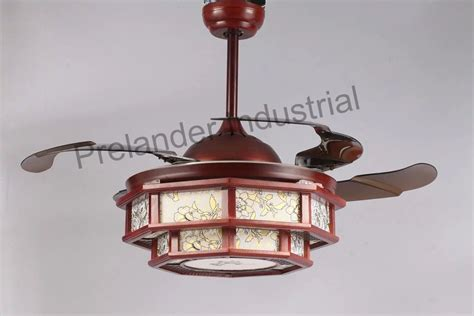 ceiling fan with clear retractable blades and light chinese art ceiling fan hidden blades ceiling fan
