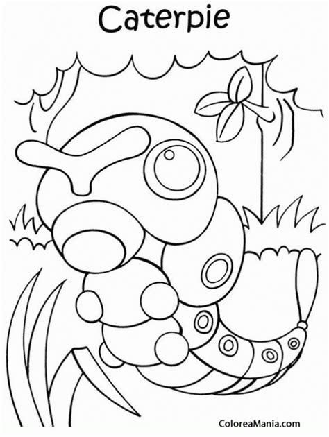 pokemon coloring pages caterpie colorear pokemon caterpie pokemon dibujo para colorear