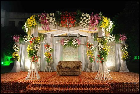 flowers decoration best wedding stage decoration idea for indian weddings