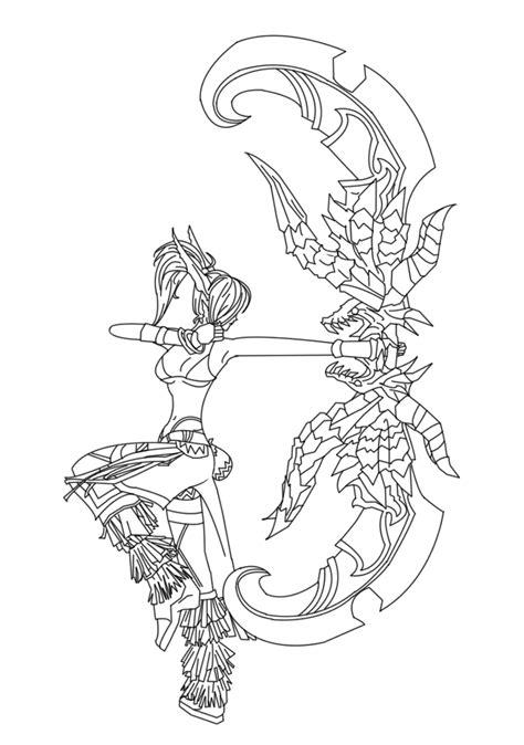 elf archer coloring pages elven archer coloring pages