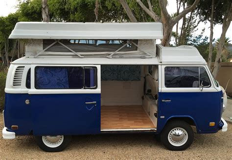 1974 volkswagen bus 1974 vw bus riviera cer blue white classic