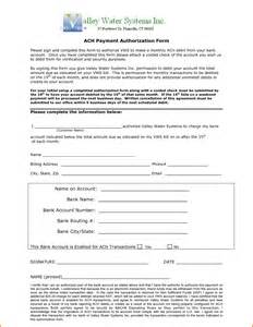Ach Form Template by 8 Ach Authorization Form Template Authorization Letter