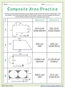 Composite Area Worksheet by 17 Best Images About Math On Equation High