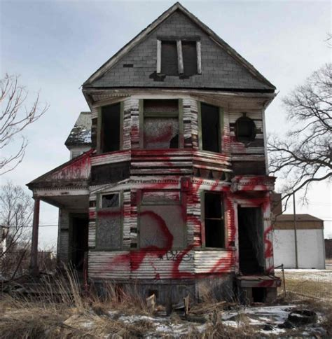 Blighted Home That Says Detroit Is Going Bankrupt Local News From The Uk Lookup