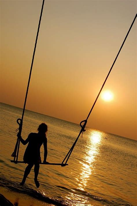 sunset swings koh chang thailand sunset my own swing over the ocean at