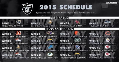 printable raiders schedule 2015 image gallery oakland raiders 2015 schedule